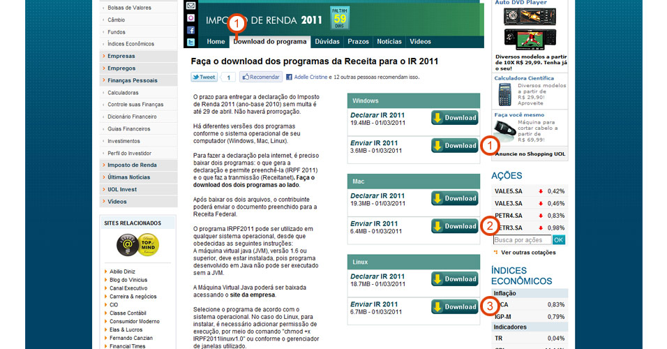 G1 abertura do programa notícias em imposto de renda 2012.