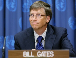 O bilionário norte-americano Bill Gates, um dos criadores do site The Giving Pledge