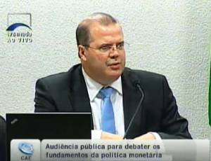 Alexandre Tombini, presidente do Banco Central, participa de audiência pública no Senado