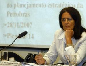 Foto de 2007 mostra a então diretora de Gás da Petrobras, Maria das Graças Silva Foster