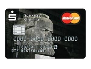 O busto de Marx no cartão de crédito do Sparkasse