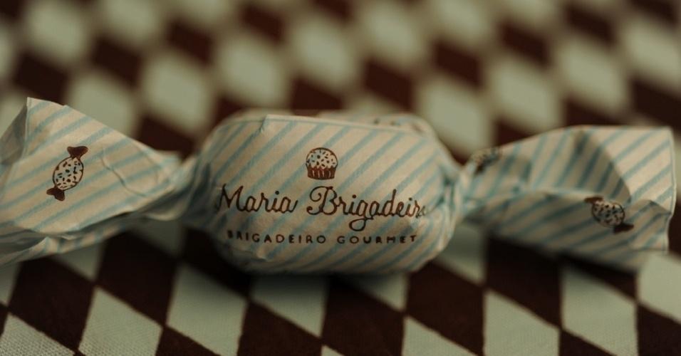 Bala de brigadeiro da loja Maria Brigadeiro
