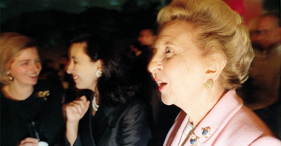 Bilionária Dirce Camargo em foto de 1997