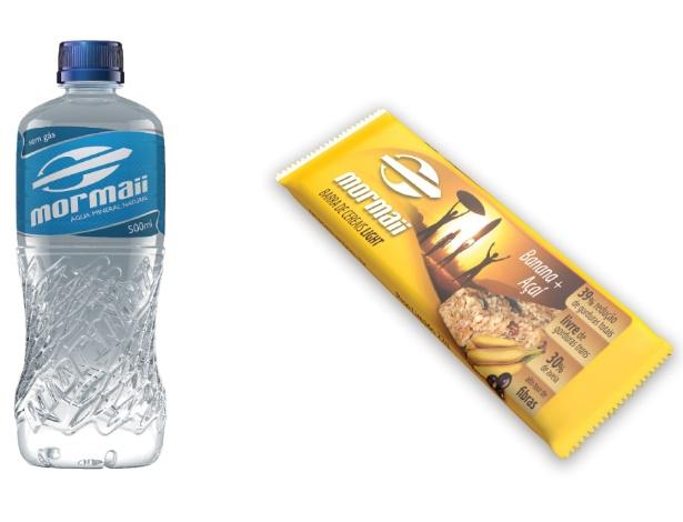 Resultado de imagem para água e barra de cereais