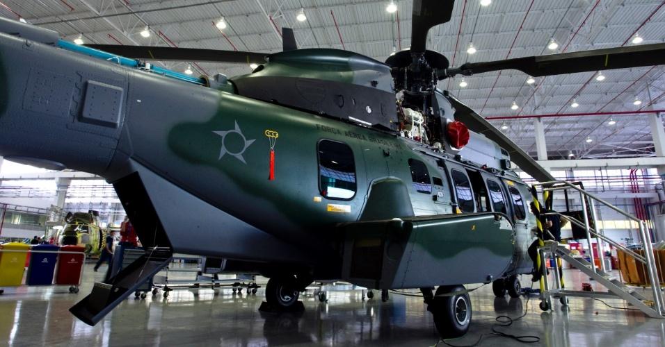 Após 18 mil horas de produção e planejamento, o helicóptero está pronto para ser entregue ao cliente