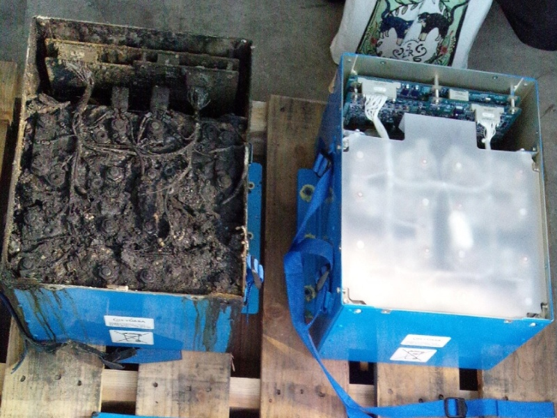 Uma foto divulgada nesta sexta-feira por investigadores japoneses que analisam as causas para o pouso de emergência de um Boeing 787 Dreamliner mostrava que a bateria estava aparentemente carbonizada.