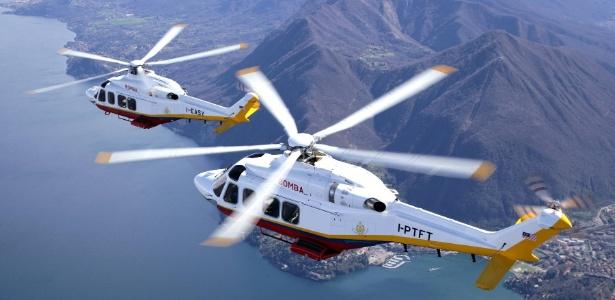 Helicóptero AW139 produzido pela AgustaWestland, empresa que anunciou parceria com a Embraer