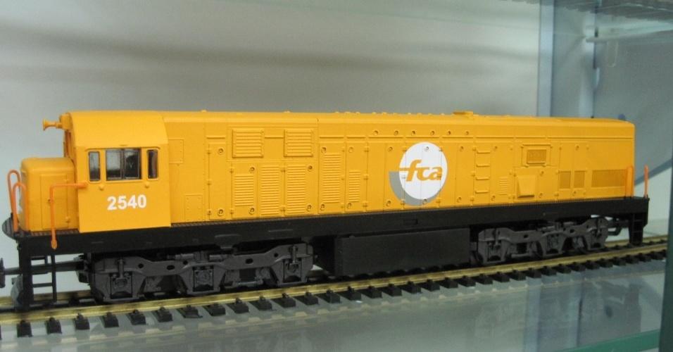 Miniaturas de trens da fábrica Frateschi, de Ribeirão Preto