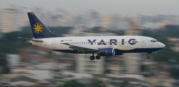 Avião da extinta companhia aérea Varig