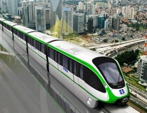 Modelo de trem que será construído em São Paulo, que liga o centro da capital paulista ao bairro de Cidade Tiradentes, na zona leste
