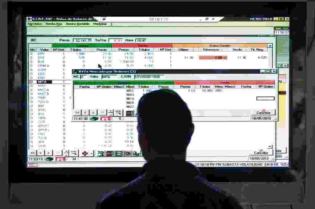 bolsa de valores, ações, mercado, ícone, economia - Miguel Gutierrez/AFP