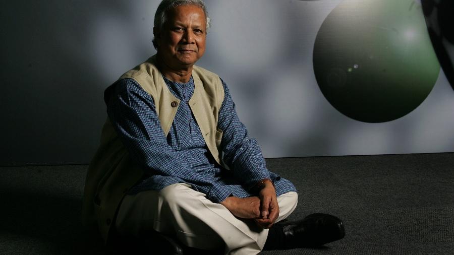 O economista indiano, Muhammad Yunus que venceu o Prêmio Nobel da Paz ao defender a expansão do microcrédito e um capitalismo humanizado - Eduardo Anizelli/Folhapress