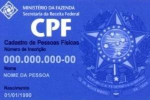 Modelo de antigo CPF, emitido em cartões de plástico