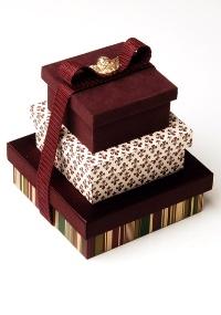 Lembrança de casamento do atelier Jeniffer Bresser Exclusivité: um conjunto com três caixas