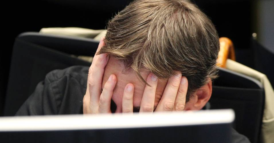 operador, desespero, queda, bolsa de valores, icone, economia