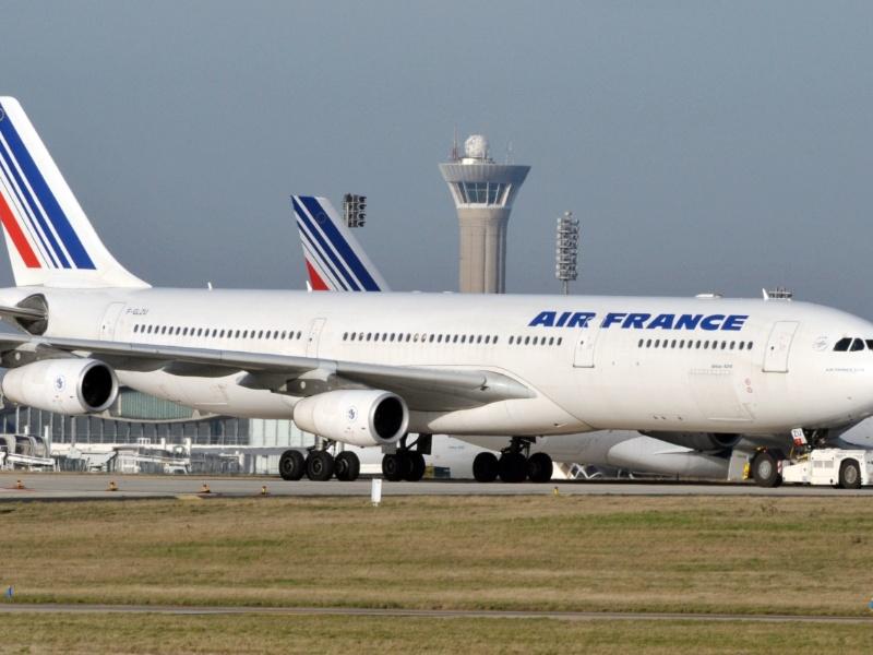 Foto tirada em 20 de novembro de 2009 mostra um Airbus A340 da Air France