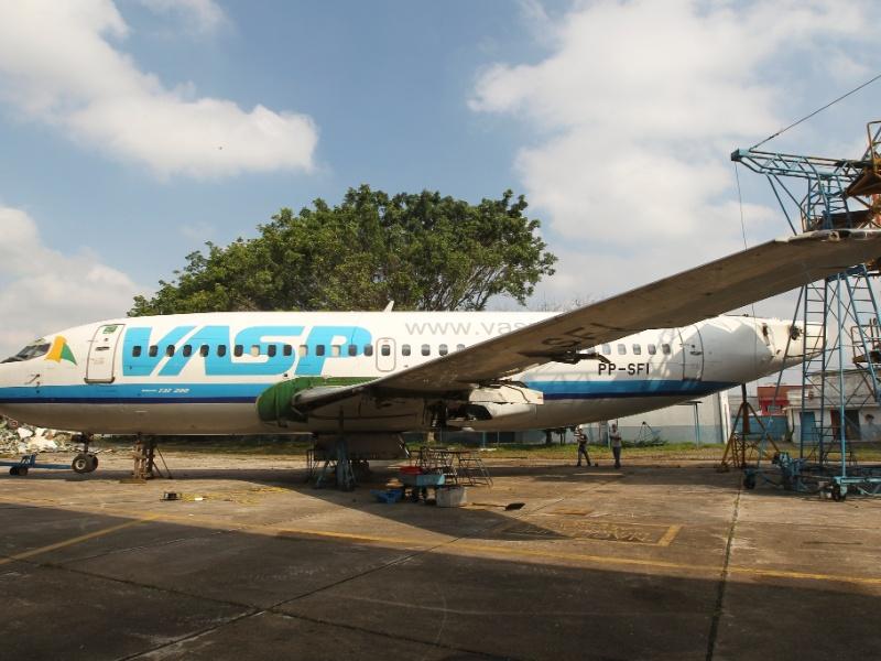 O Boeing 737-200, da Vasp, foi comprado por um comandante aposentado e será transformado em um restaurante na cidade de Araraquara, no interior de Sao Paulo