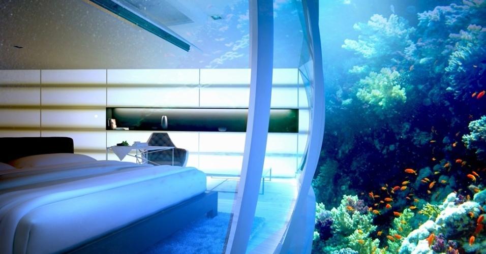 projeto de hotel subaquático World Discus Hotel