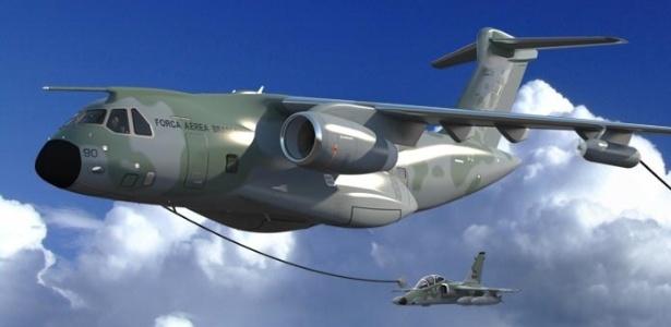 O cargueiro KC 390, fabricado pela Embraer - Divulgação/ Embraer