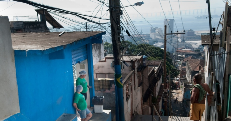 Bar-café Favela Point, no Morro da Providência, Zona Norte do Rio de Janeiro (RJ)
