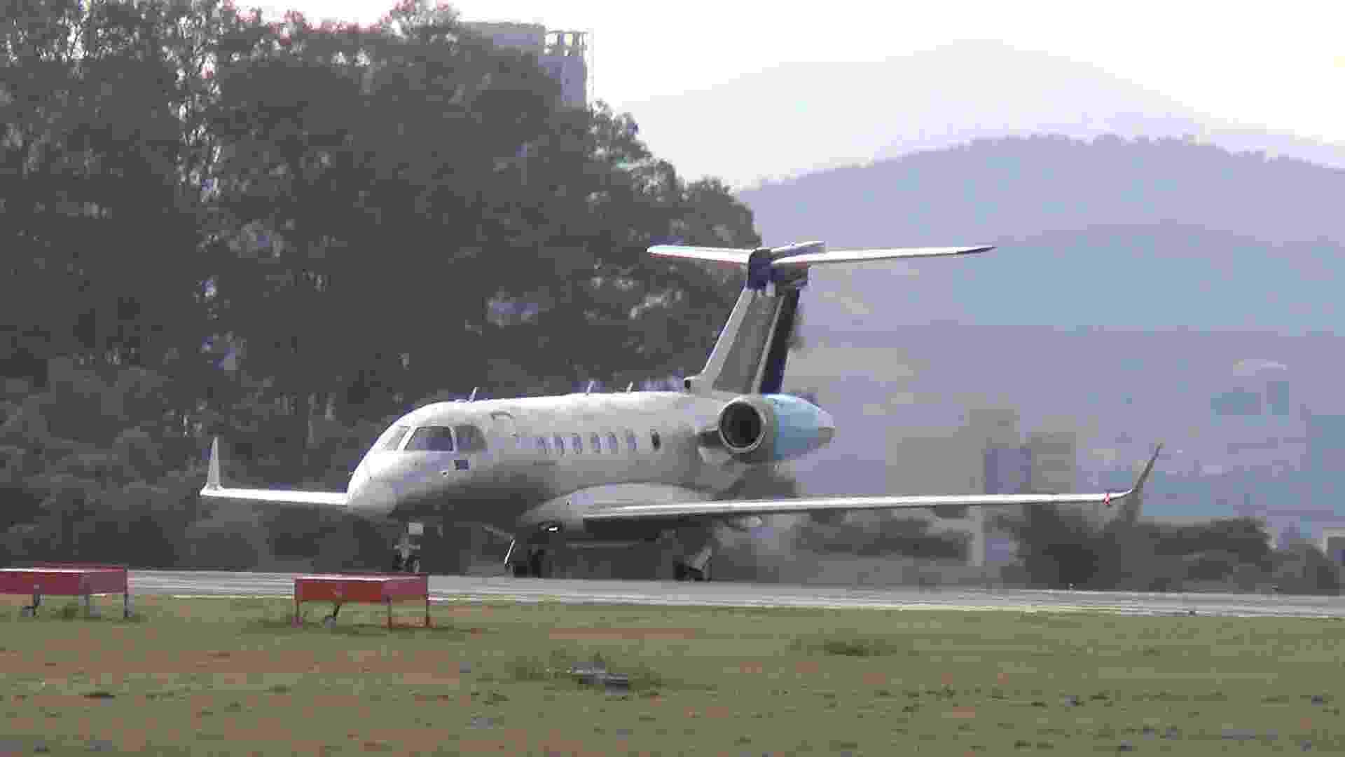 6.jul.2012 - Jato Legacy 500, da Embraer - Divulgação