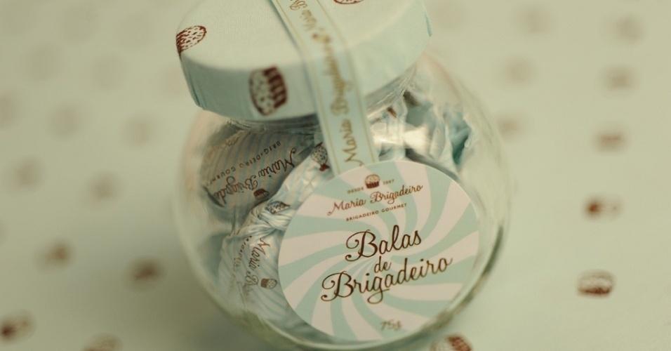 Balas de brigadeiro da loja Maria Brigadeiro