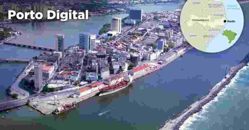 Parque tecnológico Porto Digital, em Recife (PE) - Divulgação