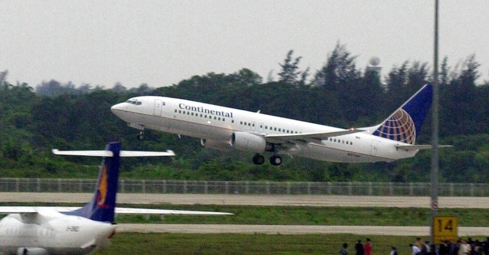 Avião da Continental Airlines