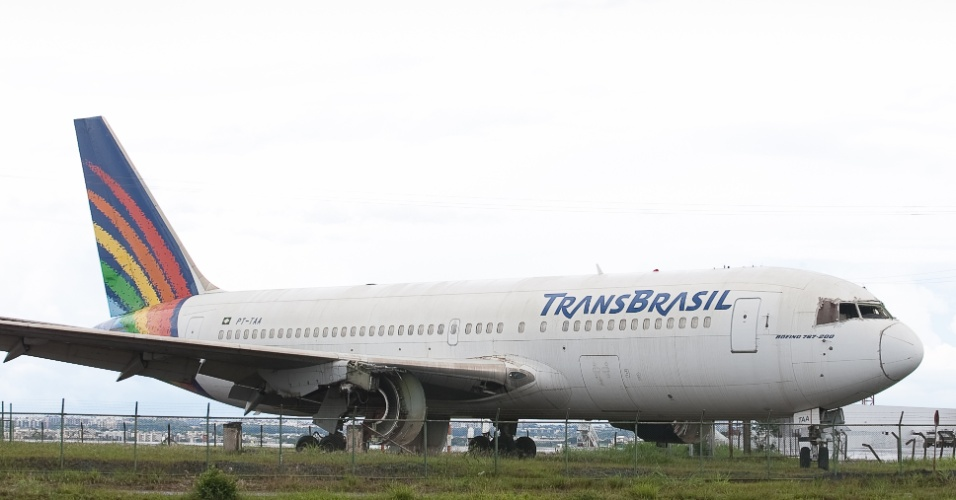 Sucatas de avioes da TransBrasil