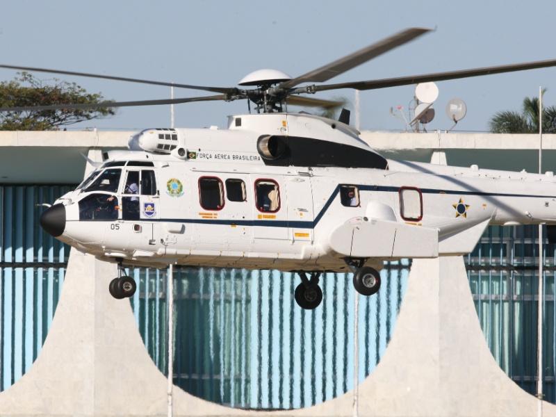 Helicópero EC725, da Helibrás, utilizado pela presidente Dilma Rousseff