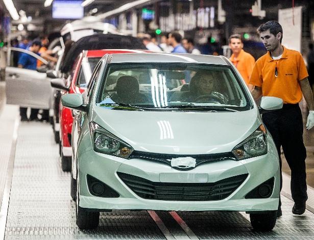 Fábrica de Piracicaba (SP) tem capacidade para produzir 34 unidades do HB20 por hora - Leonardo Soares/UOL