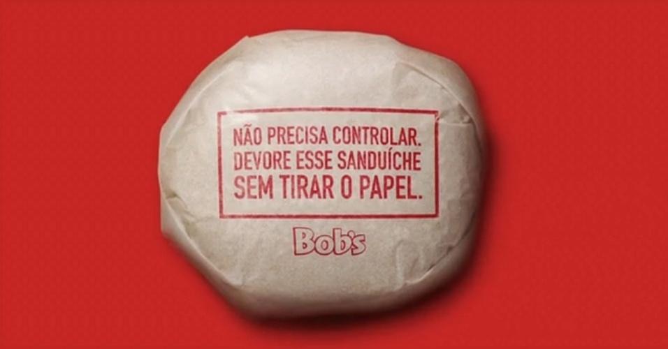 Embalagem comestível criada pela agência NBS para o Bob's
