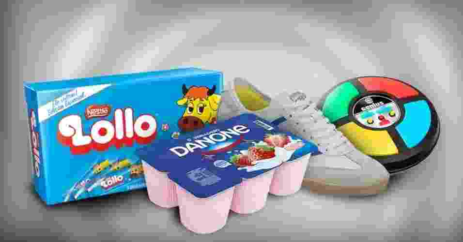 Montagem com produtos que voltaram ao mercado em 2012 - Arte/UOL