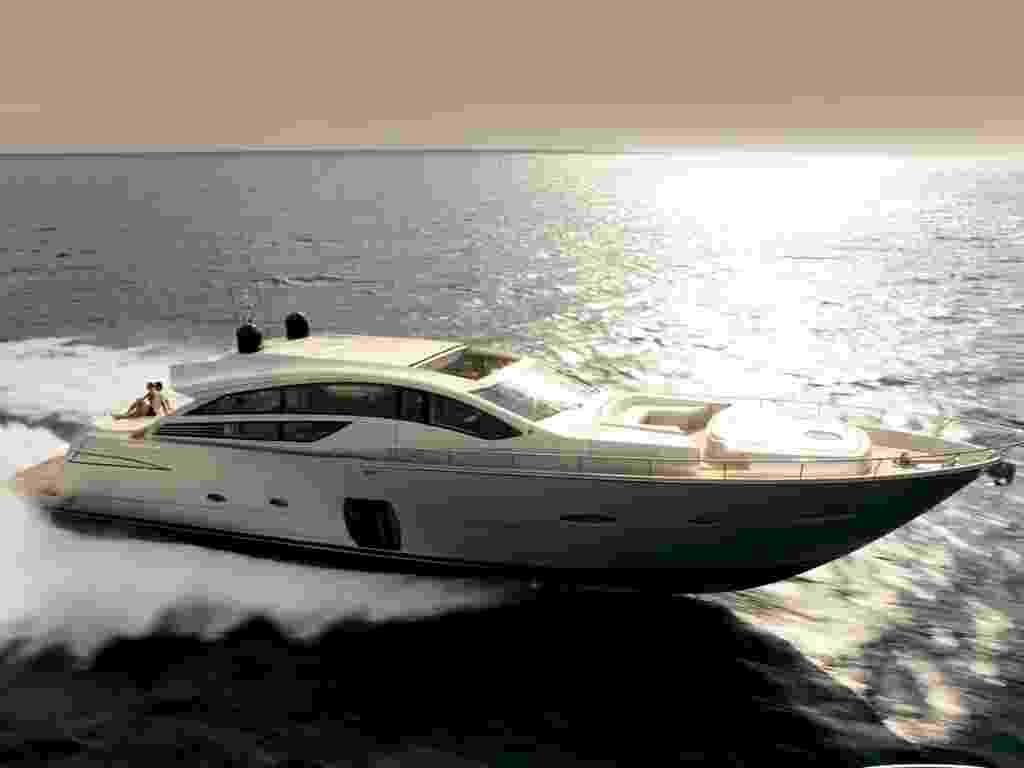 """Conhecidas como as """"ferraris do mar"""", as lanchas Ferretti fabricadas no país chegam a custar até R$ 15 milhões. Veja passo-a-passo como esses gigantes dos mares são construídos - Divulgação"""