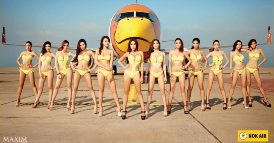 A empresa aérea tailandesa Nok Air causou polêmica após divulgar um calendário com imagens de mulheres em poses sensuais. A medida desagradou o governo do país, que criticou o fato de empresas ainda utilizaram o corpo da mulher como ferramenta de marketing.