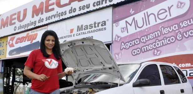 Cerca de 65% dos clientes da oficina Meu Mecânico, da empreendedora Agda Oliver, são mulheres