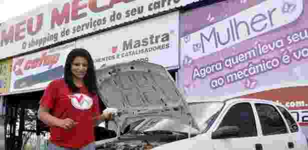 Cerca de 65% dos clientes da oficina Meu Mecânico, da empreendedora Agda Oliver, são mulheres - Divulgação