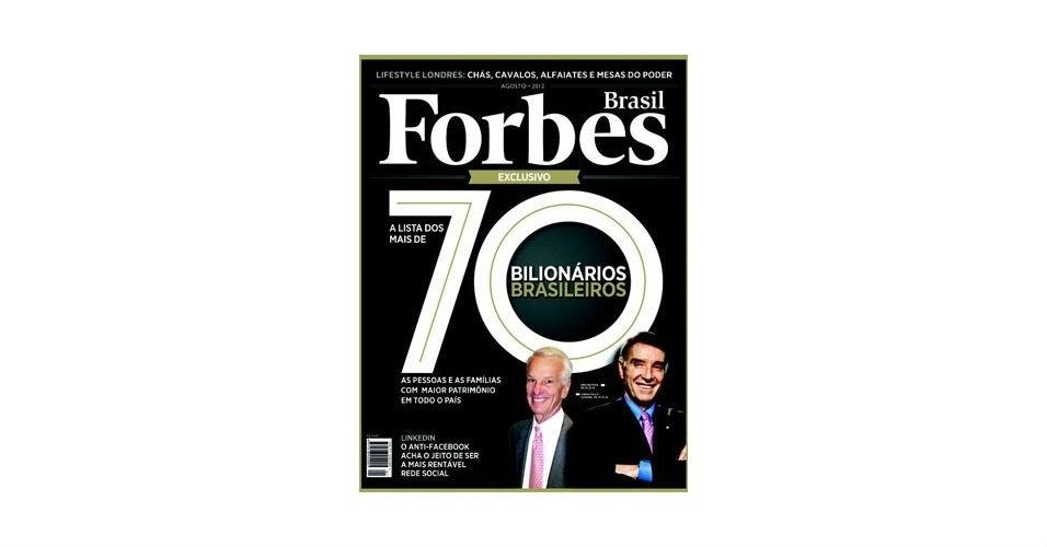 Eike Batista na capa da Forbes 2013 álbum