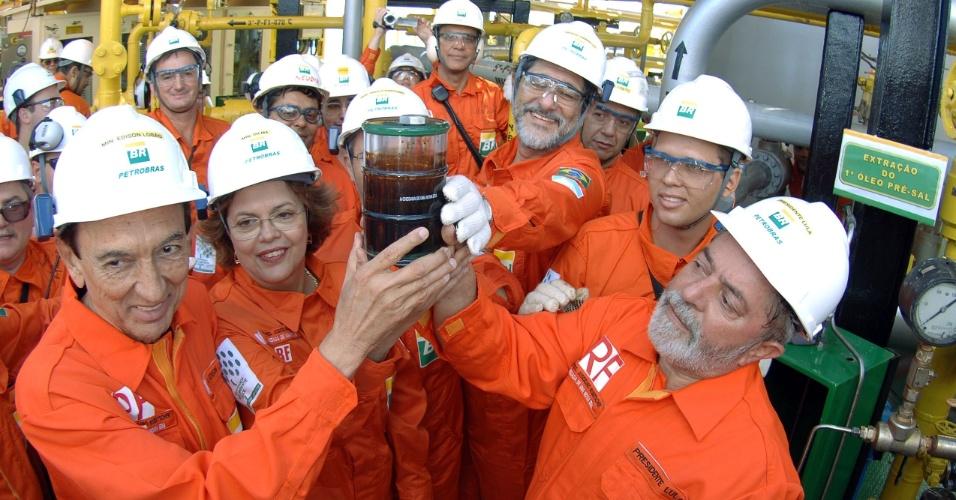 2008 - p-34 primeiro oleo do pre-sal - em Jubarte - Bacia de Campos