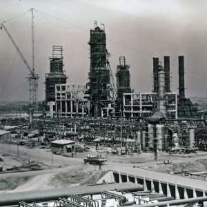 Construção da Refinaria de Paulínia (Replan), em São Paulo - Banco de Imagens Petrobras