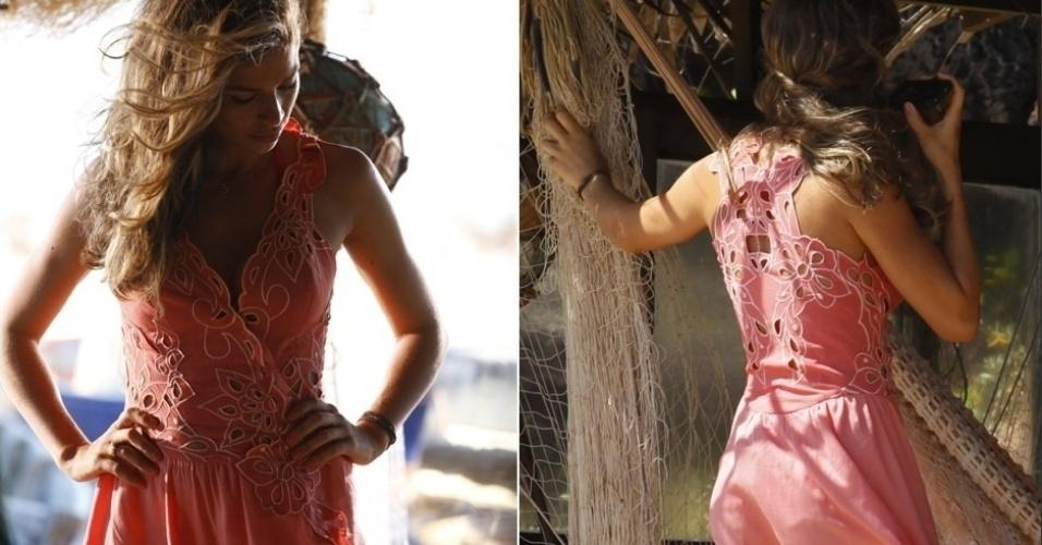 Grazi Massafera em cena da novela Flor do Caribe, da TV Globo